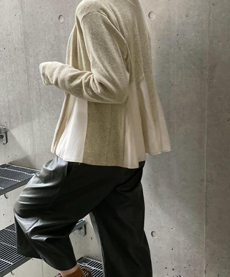 (original)シフォン切替カーディガン 即納
