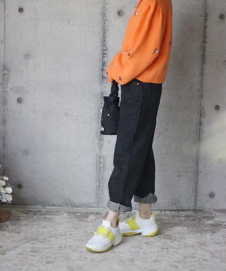 (select)カラフル刺繍カーデ