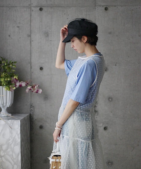 6月上旬発送(original)チュール付キャスケット