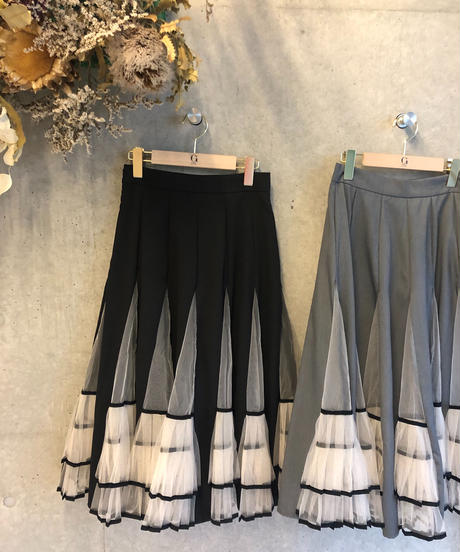 即納(select)プリーツ切り替えスカート