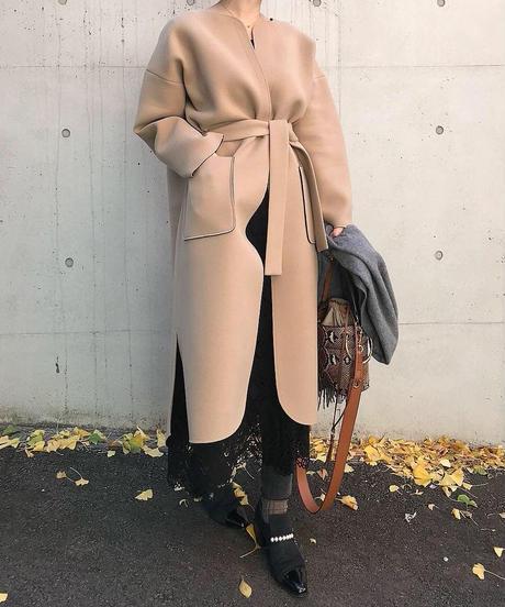 先行予約 (original) neo coat (ベージュ×ブラック)