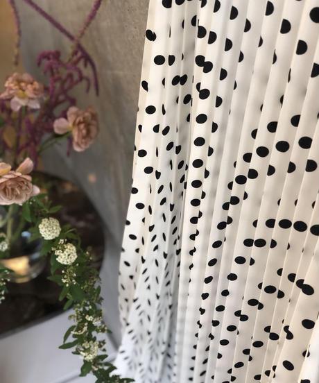 即納(original)dot pleats skirt