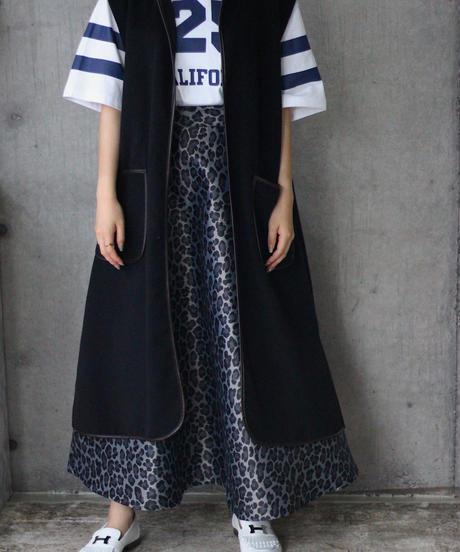 (original)ヒョウ柄 ジャカードスカート