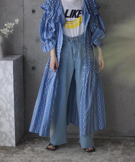 (select)フラワー刺繡ワンピース