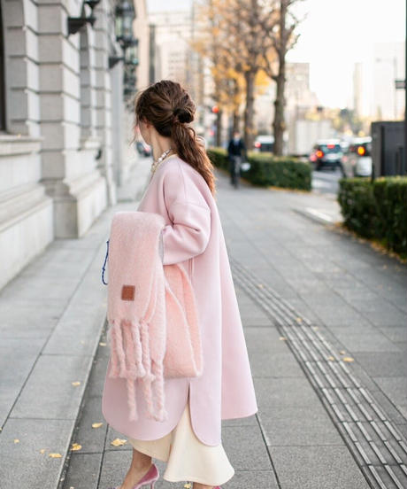 (original)neo coat  (ライトピンク×ライトグレー)
