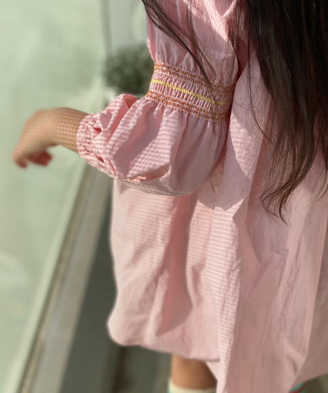 (original)KIDS スモック刺繡ワンピース