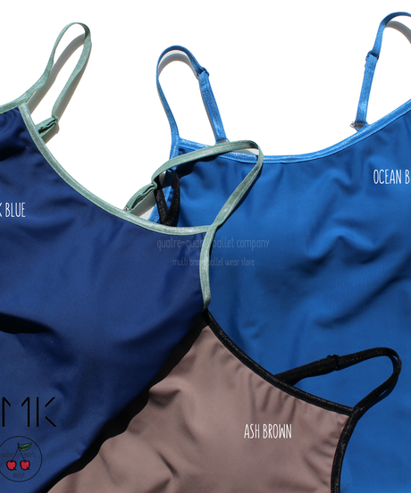 [S M K] ECONYL® THIN STRAPS LEOTARD with Bra pad + New Colours!