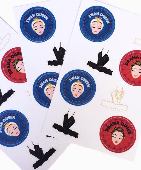 [The Ballet Bag] Set of 8 Swan Lake Stickers