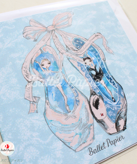 [Ballet Papier] GREETING CARD SET 'POINTE 4'