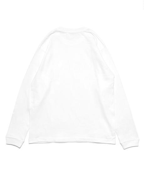 フラワーBOXロゴロングスリーブTシャツ(ホワイト)