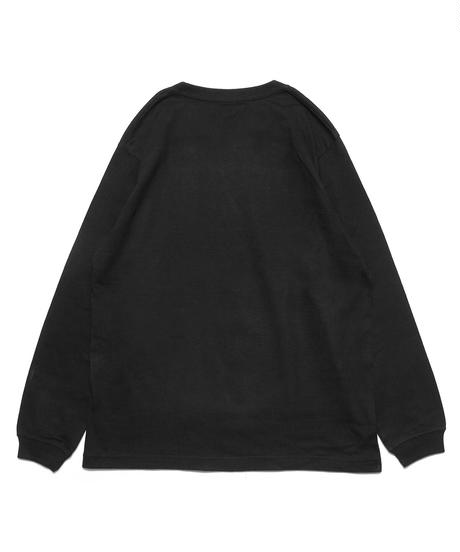 フラワーBOXロゴロングスリーブTシャツ(ブラック)