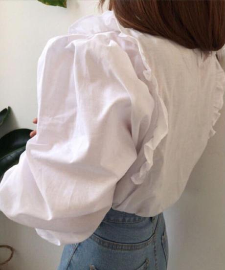 ボリュームパフシャツトップス