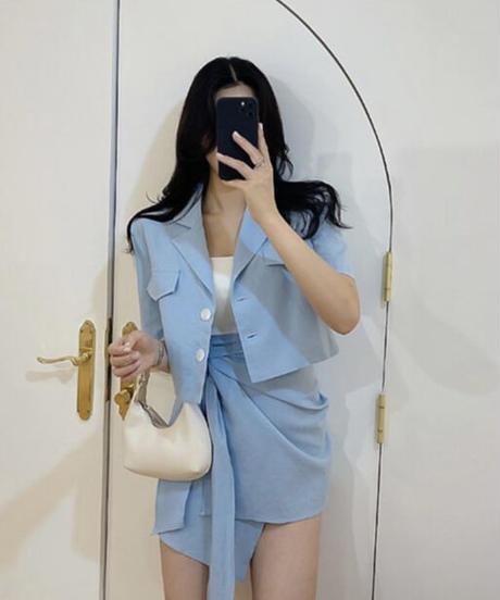 ショートジャケット+デザインスカート