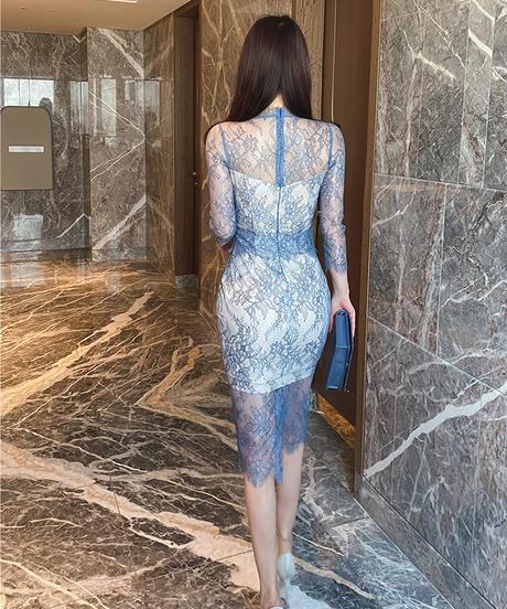 オールレースエレガントドレス