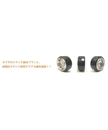 【HD-023WH】ホイルはめ込み済みドリフトタイヤ(NFホイル オフセット3 ホワイト)
