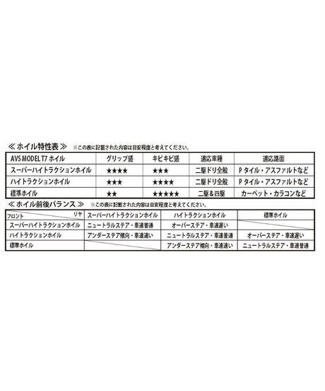 【IW-3205BK】AVS MODEL T7 スーパーハイトラクションType offset5 ブラック