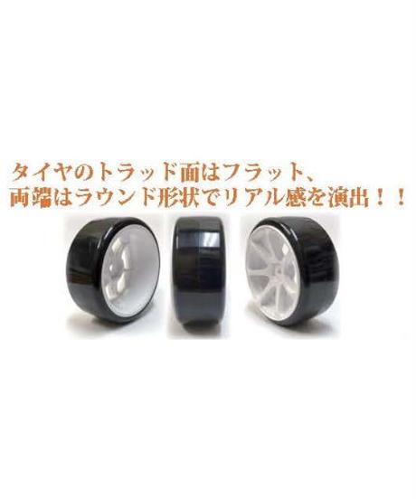 【HD-031BK】ホイルはめ込み済みドリフトタイヤ(AVS MODEL T7ホイル オフセット1 ブラック)