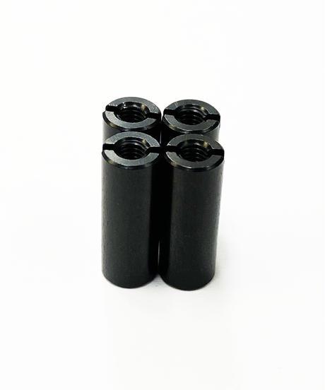 【TP-5616】アルミ汎用カラー ブラック M3.0用 全長16mm