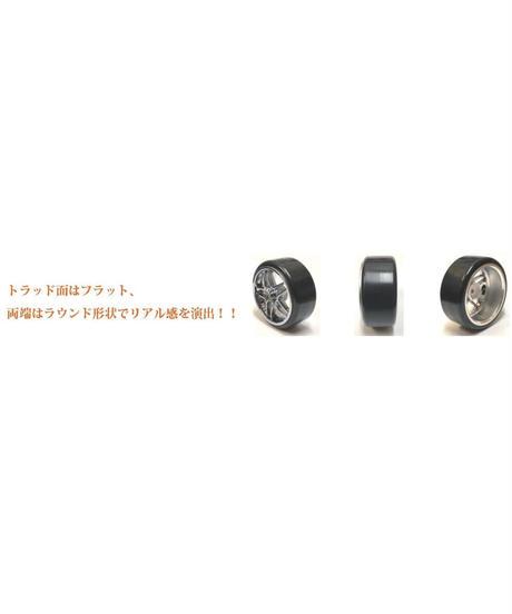 【HD-012BK】ホイルはめ込み済みドリフトタイヤ(BRW03ホイル オフセット2 ブラック)