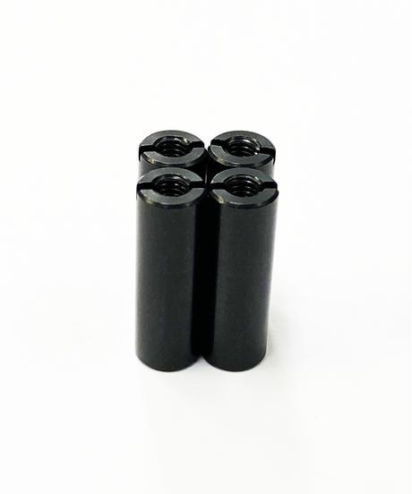 【TP-5618】アルミ汎用カラー ブラック M3.0用 全長18mm