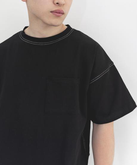 #005 ポケット付きステッチT (Black)