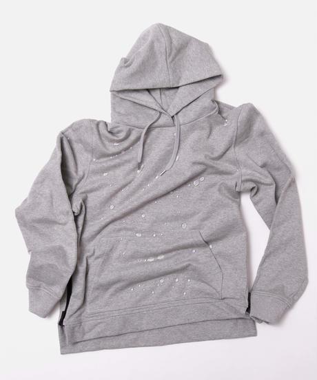 【超撥水】Pullover Side Zip Hooded Sweatshirt T/GRY 19S-103