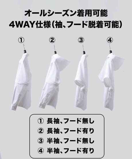 【ラスト1着】THE WISDOM 4WAY SHIRT WHITE