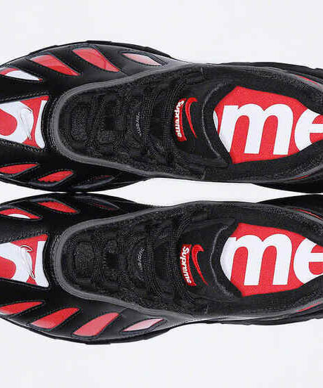 "【先着1名様/送料込/国内最安値】新品 NIKE AIR MAX 96 ""SUPREME""BLACK/SPEED RED-CLEAR"