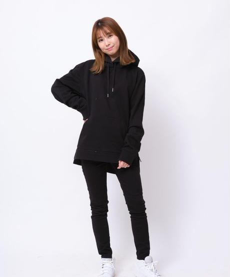 【超撥水】Pullover Side Zip Hooded Sweatshirt BLK 19S-103