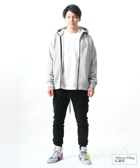 Raglan Zip Hooded Sweatshirt T/GRY 19S-104