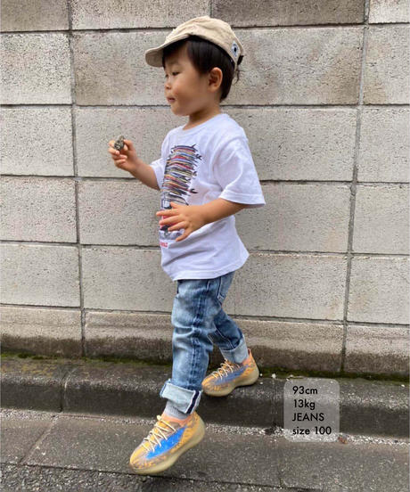 【新価格・在庫限り】Kids Hyper Stretch Denim Jeans Mid Blue 19F-226
