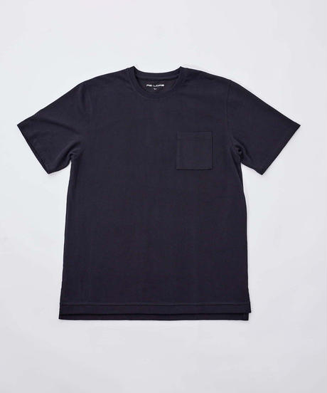 【テレビで話題・超撥水】Box Pocket Side Slit Tee Black