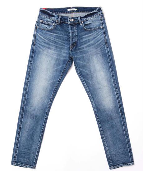 14.5oz Slim-fit Tapered Hyper Stretch Denim Jeans  Mid Blue 19S-201