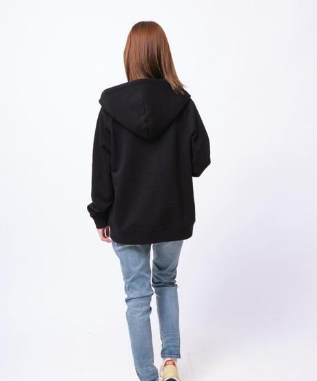 【超撥水】Raglan Zip Hooded Sweatshirt BLK 19S-104