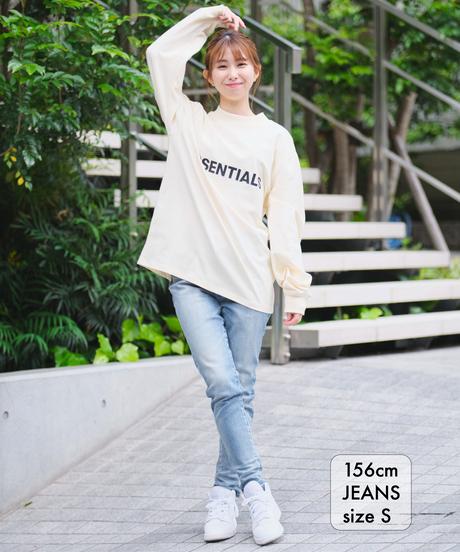 【美脚・スタイルアップ】Women Slim-fit Tapered Hyper Stretch Denim Jeans Light Blue 19F-225