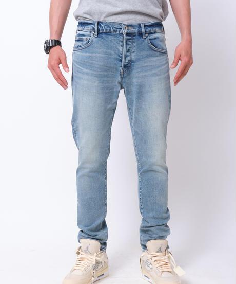 14.5oz Slim-fit Tapered Hyper Stretch Denim Jeans Light Blue 19S-201