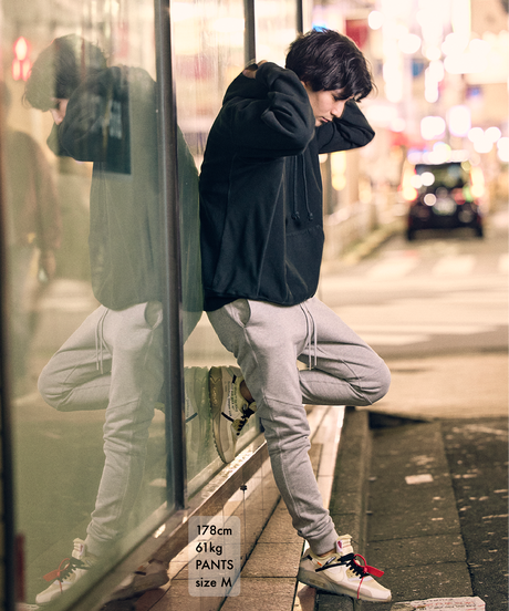 【超撥水】Slim-fit Tapered Sweat Pants T/GRY 19S-202