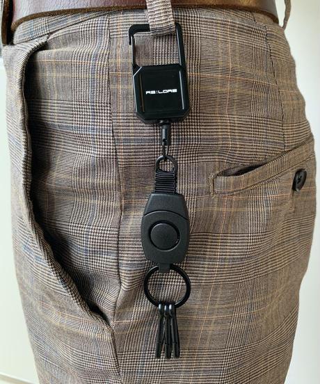 Original Reel Key Chain Matte Black 20F-404
