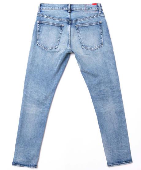 【超撥水・脚長】14.5oz Slim-fit Tapered Hyper Stretch Denim Jeans Light Blue 19S-201