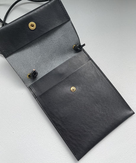 【&her】Leather Coin Bag / BLACK
