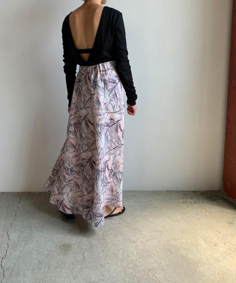 【&her】Leafy Skirt/Pink