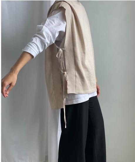 【&her】Cottonlinen Knit Vest/BEIGE