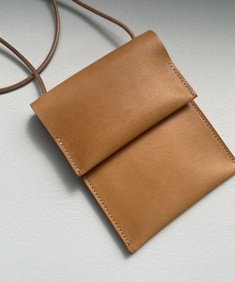 【&her】Leather Coin Bag / CAMEL