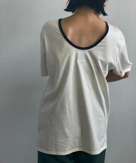 【&her】Ringer Tshirt/WHITE