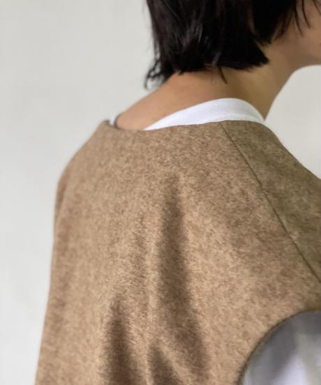 【&her】Wool Vest/BROWN