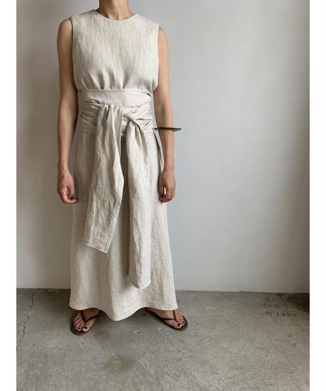 【&her】Linen Long Dress/Ecru