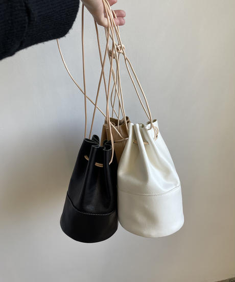 【&her】Leather Purse Bag / WHITE
