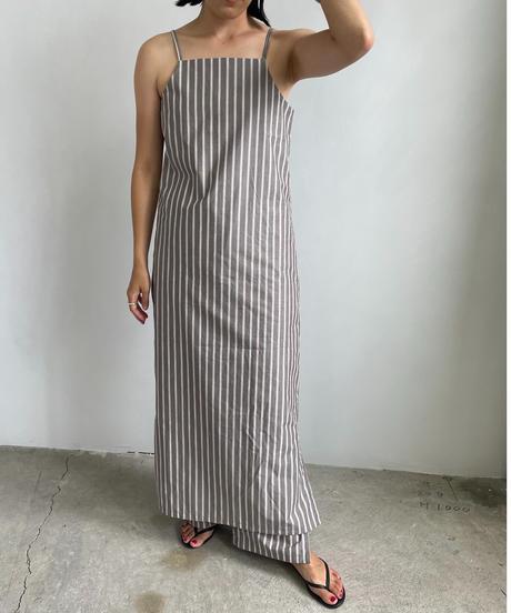 【&her】Stripe Strap Dress/BROWN