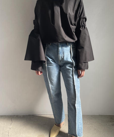 【&her】Reversible Flare Shirts/BLACK