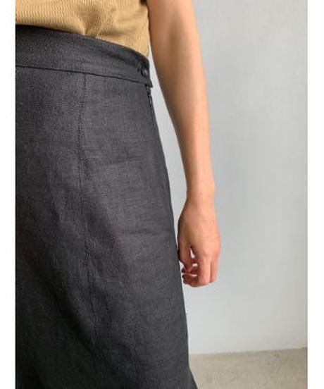 【&her】Linen Skirt/Black